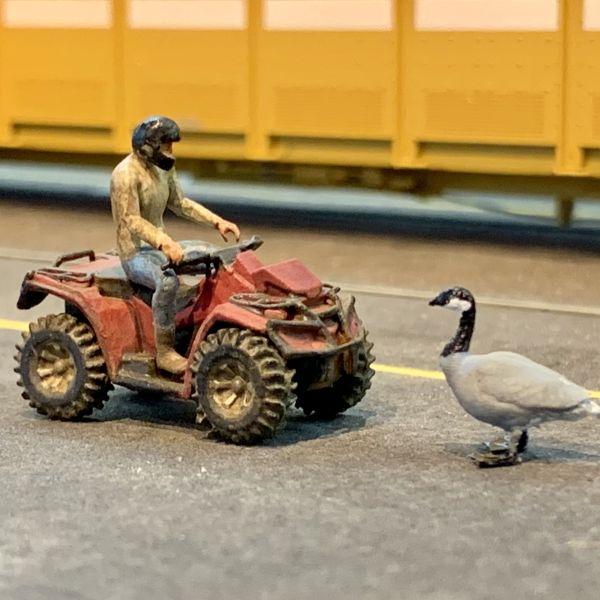 Miniature scale model ATV