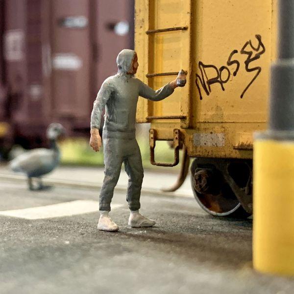 HO Scale Graffiti Artists