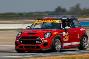 Mark Pombo drives the #37 MINI JCW