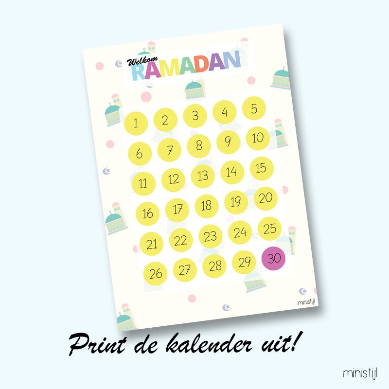 New Ramadan kalender maken: Printable - ministijl &QT79
