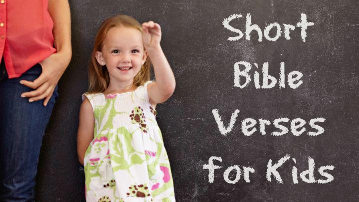 Short Bible Verses for Kids