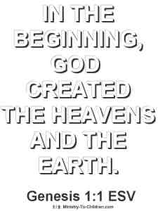 creation coloring page from genesis1:1