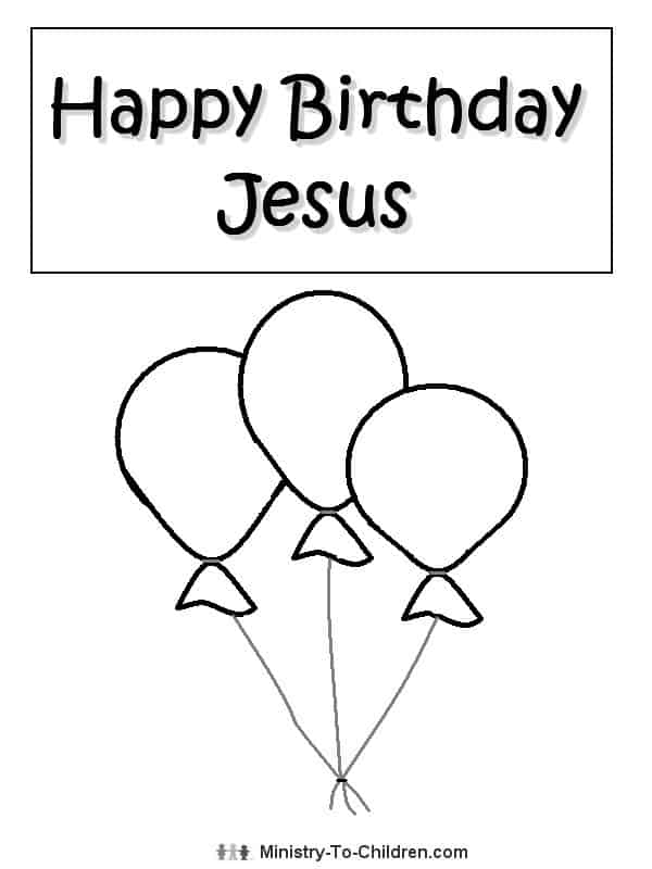 Happy Birthday Jesus Coloring Page | Free Children's ...