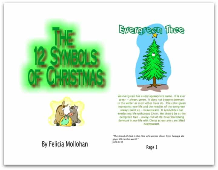 12 Symbols of Christmas Printable Story Booklet for Kids
