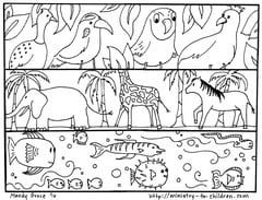 God made the animals coloring page
