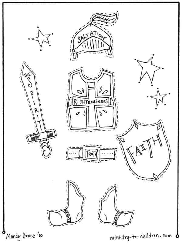 armor of god coloring page # 0