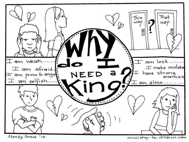Gospel Coloring Pages: Why Do I Need a King?