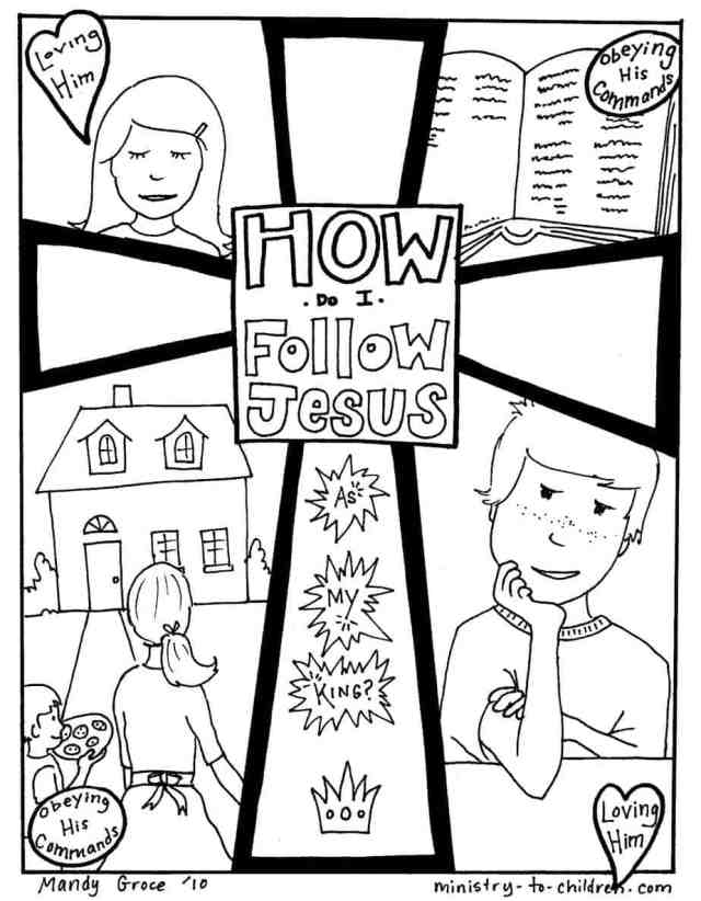 How Do I Follow Jesus? Gospel Coloring Page