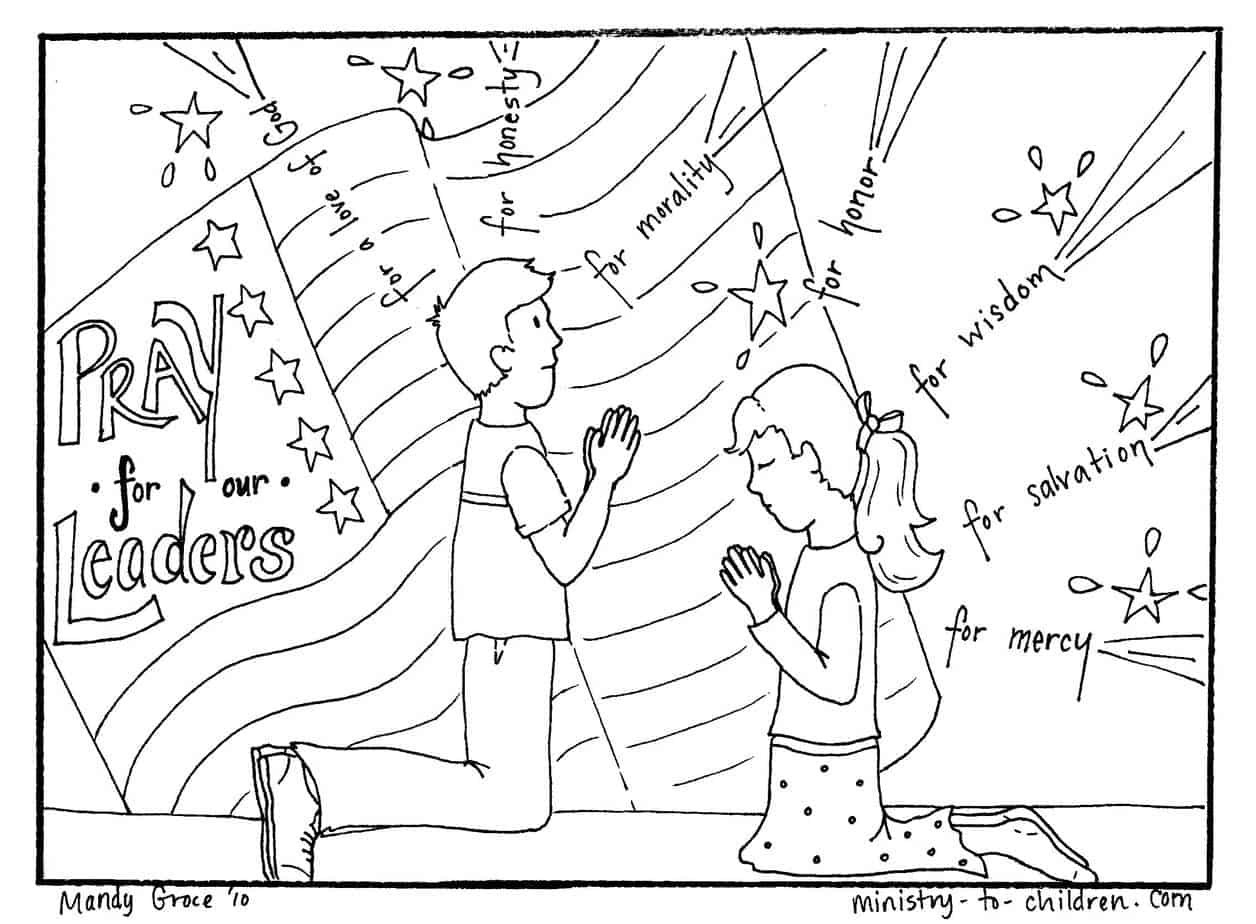 Prayer For Our Leaders Coloring Page 1 Timothy 2 1 4
