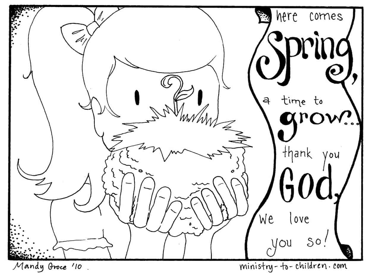 2 Spring Coloring Pages Easy Print 100 Free