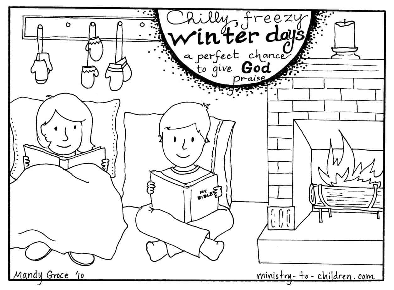 "Winter Coloring Page ""Give God Praise"" — Ministry-To"