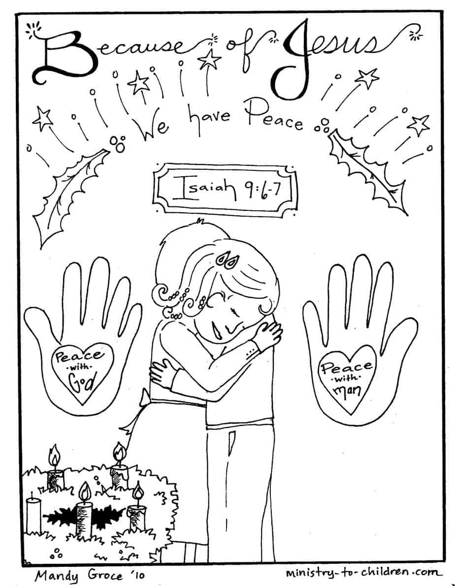 Free Advent Coloring Pages for Kids (Christmas Printables) | 1190x924