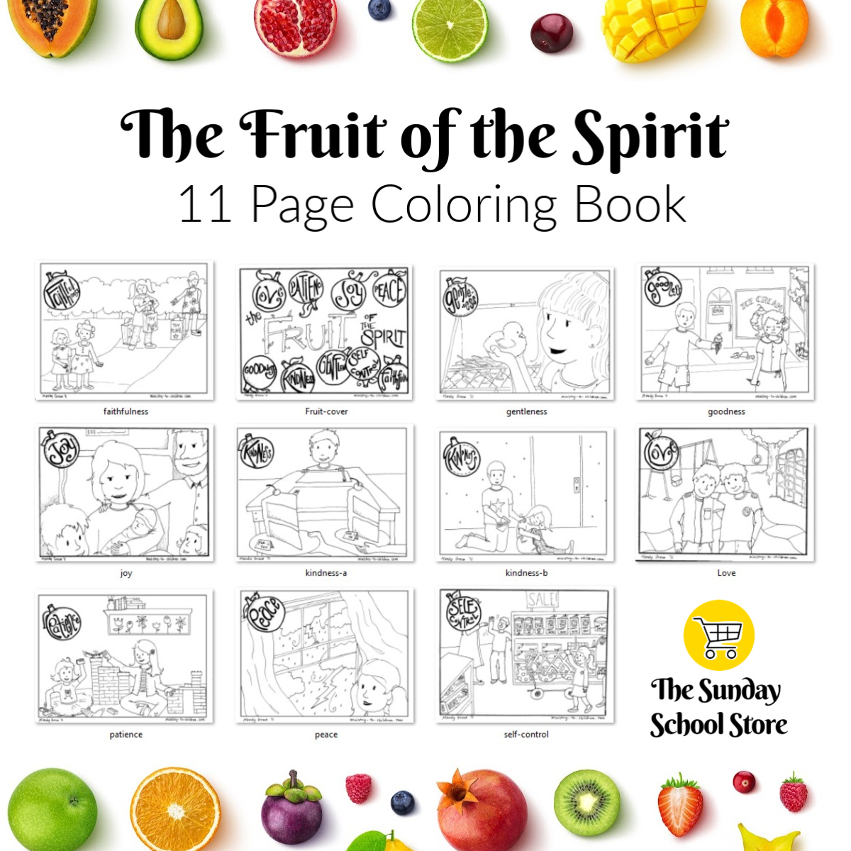 - Fruit Of The Spirit Coloring Pages (free Printables)