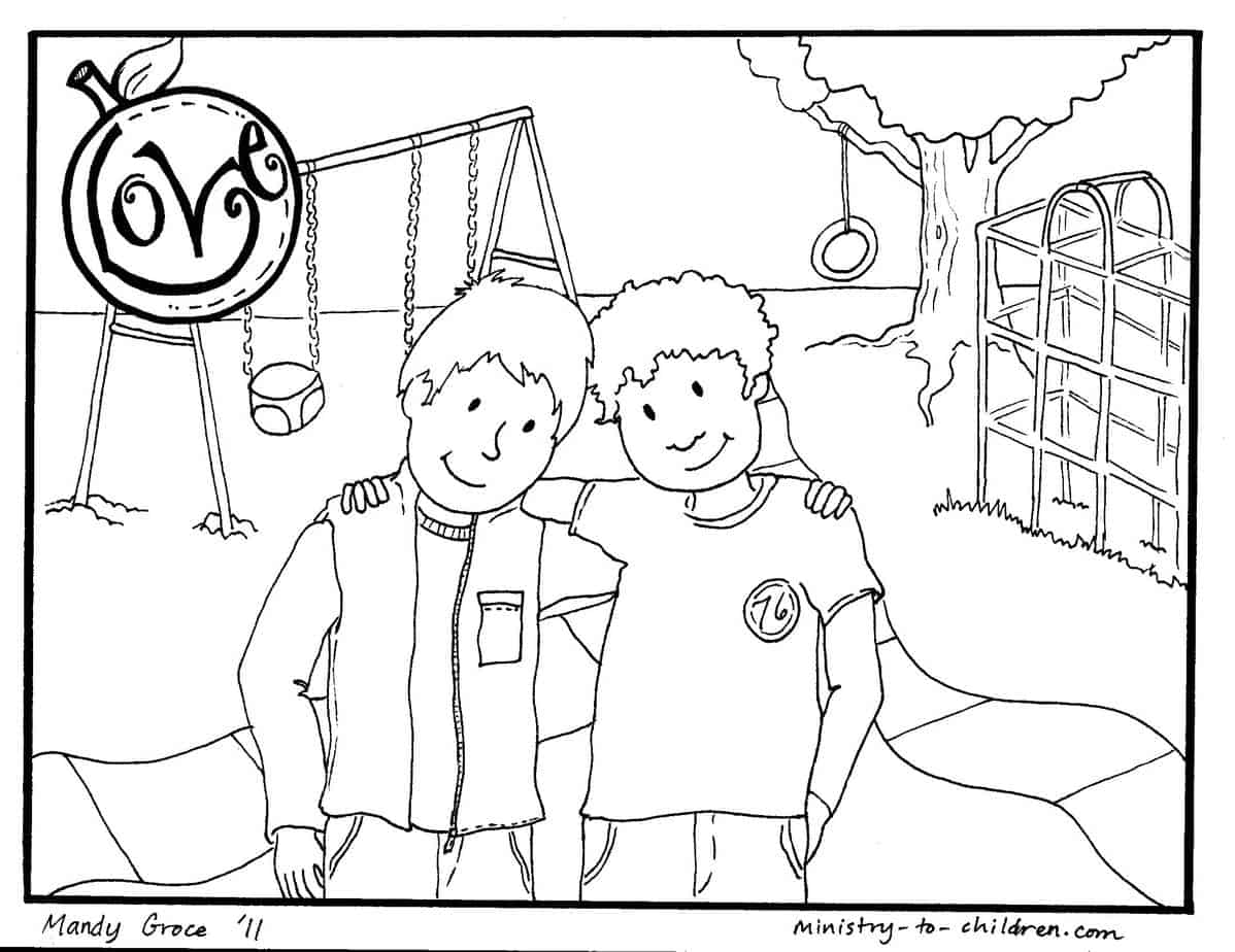 Love Coloring Page For Kids Fruit Of The Spirit