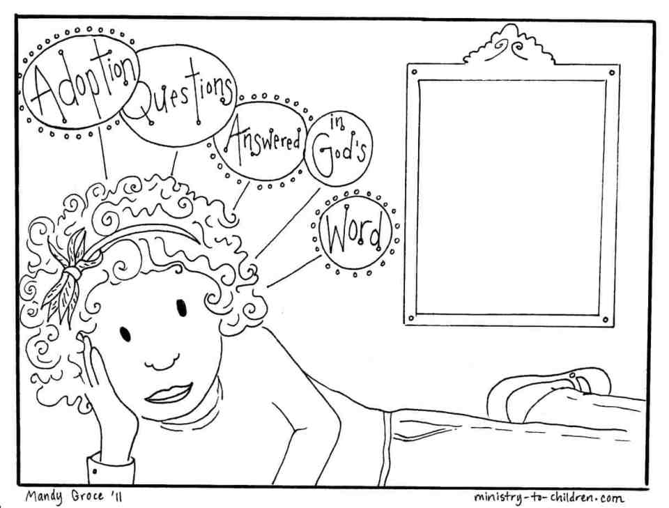 kids questions about adoption coloring page
