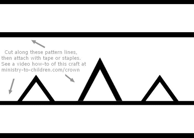 paper craft crown template