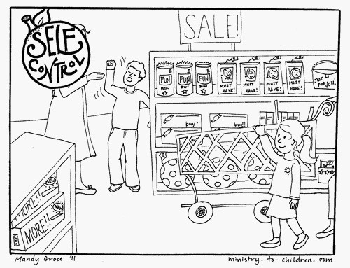 Self Control Coloring Page Fruit Of The Spirit Ministry To