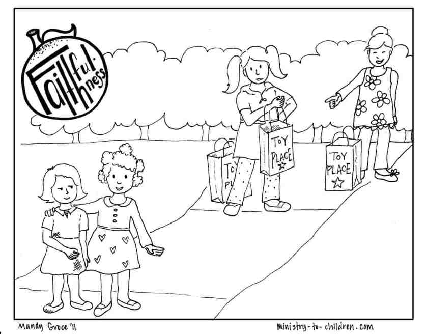 gentleness fruit of the spirit coloring sheets coloring pages