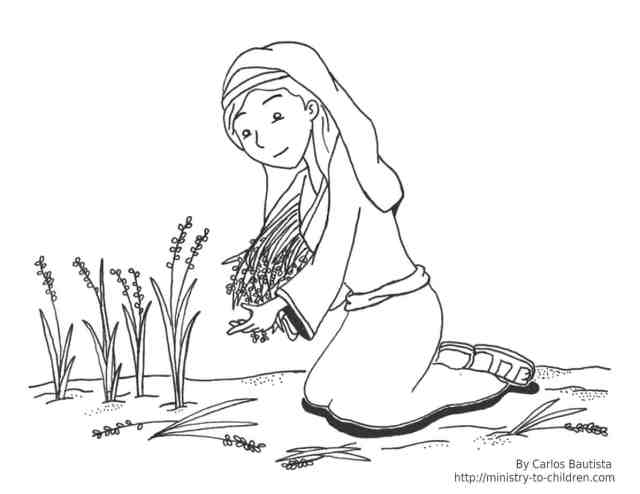 Ruth Coloring Page (free Bible printable)