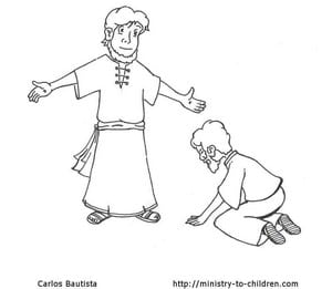 Doubting Thomas Coloring Sheet for Easter