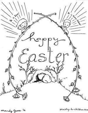 Religious Easter Coloring Pages Pictures - Whitesbelfast | 387x300