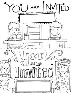 Sunday School invitation