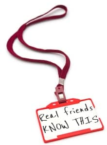 Name tag with lanyard