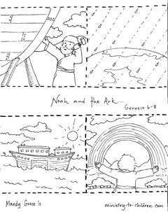 noah and the ark coloring pages # 3