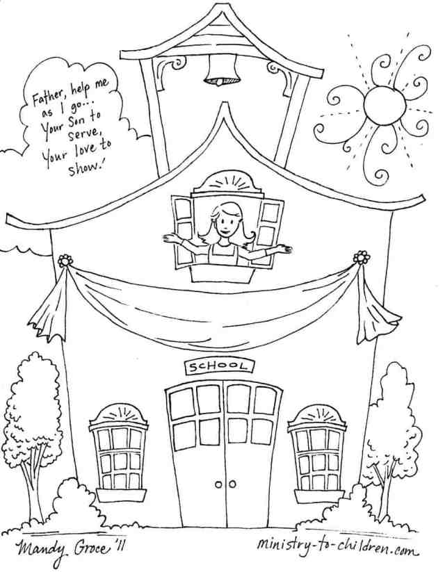 First Day of School Coloring Pages (Easy Prind PDF) 27
