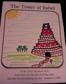 Tower of Babel coloring page