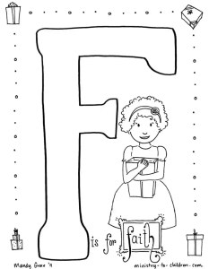 Faith Coloring Page for Sunday School