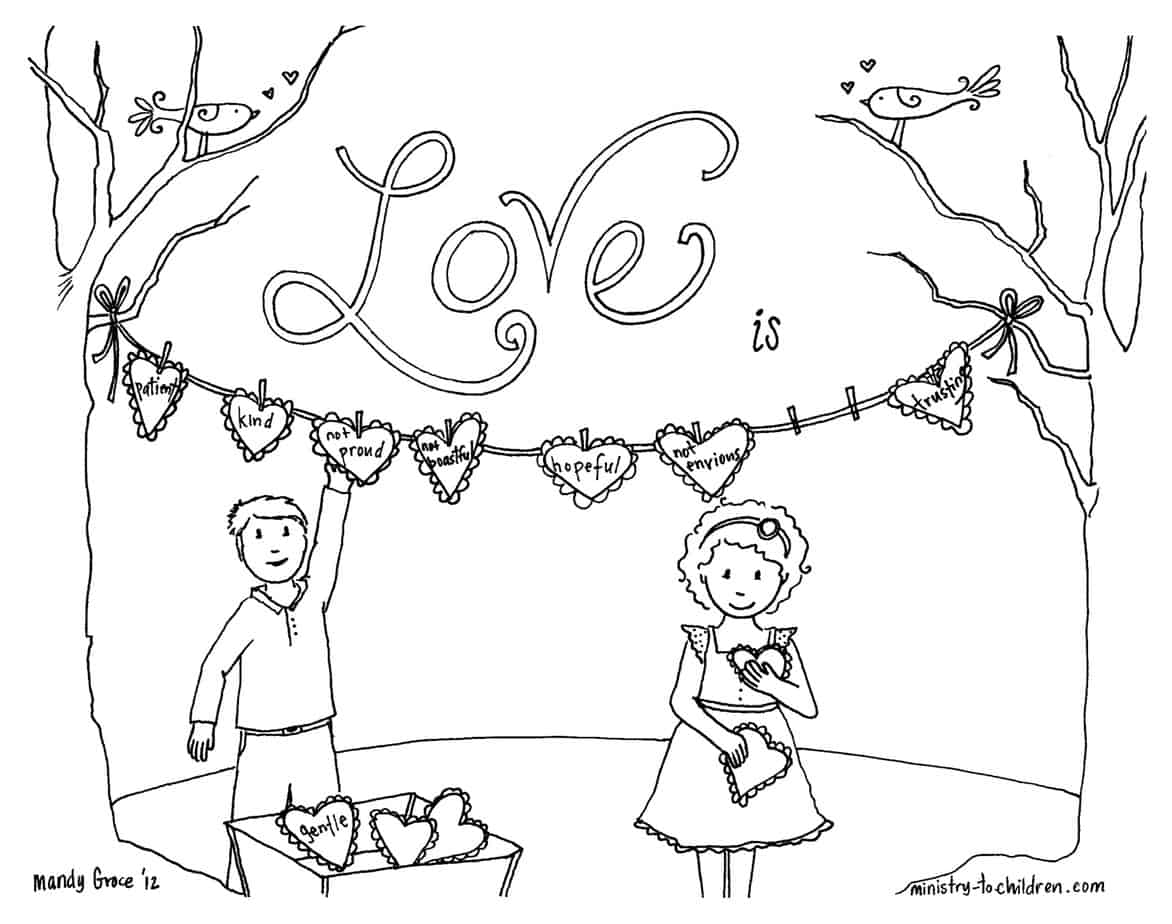 1 Corinthians 13 Coloring Page About Love