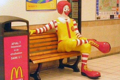 McDonald's bench with Ronald