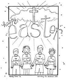 Happy Easter Coloring Sheet — Ministry-To-Children.com