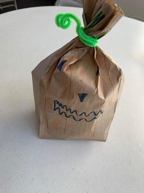 pumpkin pouch craft