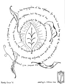 the way of the wicked coloring page - psalm 1:5,6