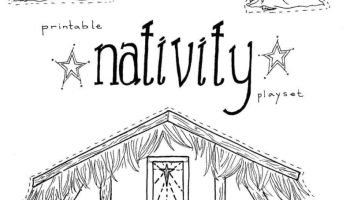 jesus in the manger coloring pages nativity playset craft