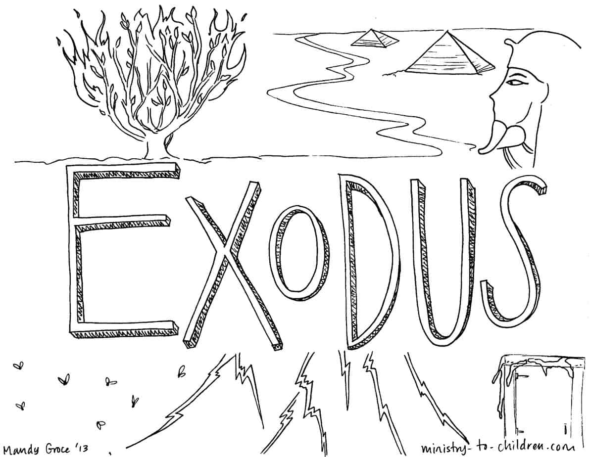 Book Of Exodus Bible Coloring Page For Children