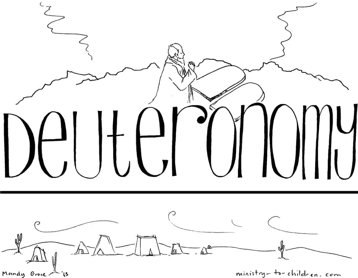 Book Of Deuteronomy Bible Coloring Page For Children