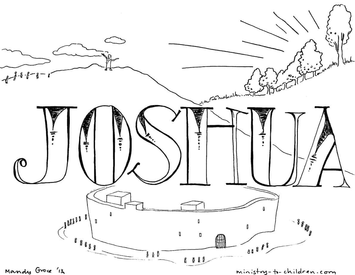 Book Of Joshua Bible Coloring Page For Children
