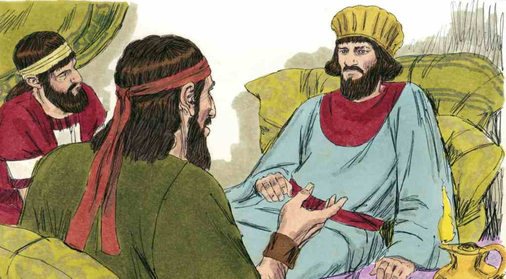 Nehemiah hears about the problems in Jerusalem.