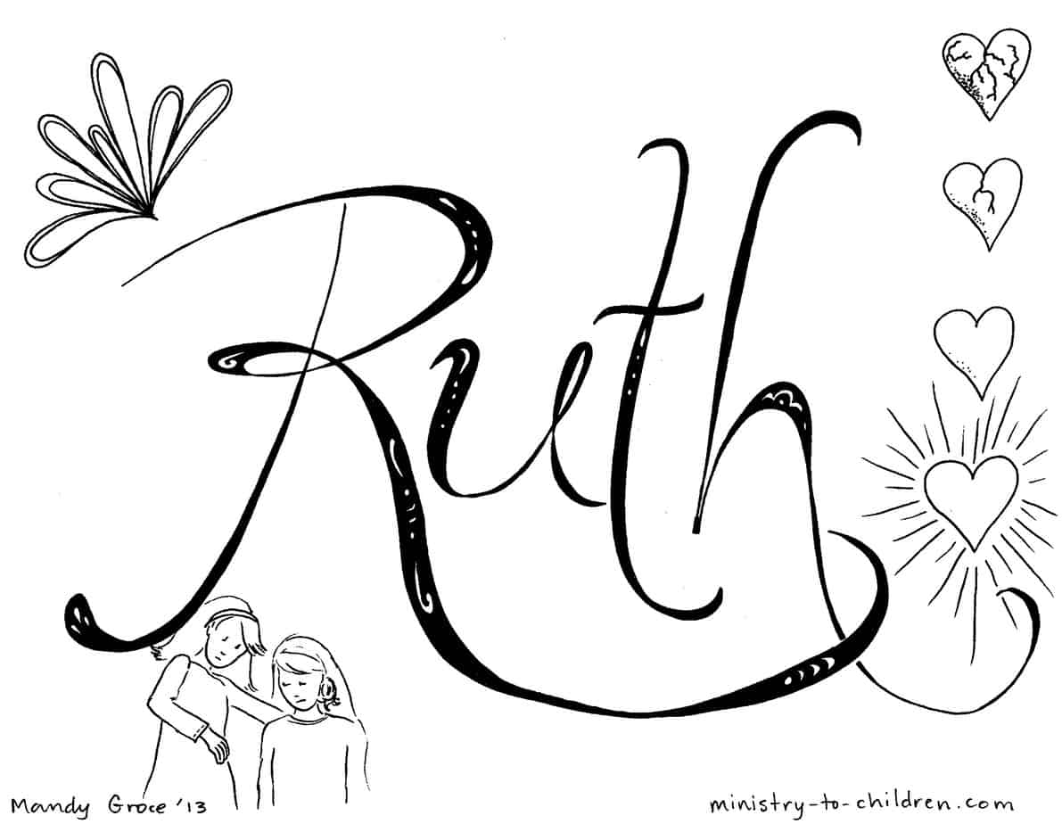 """Ruth"" Bible Coloring Page — Ministry-To-Children.com"