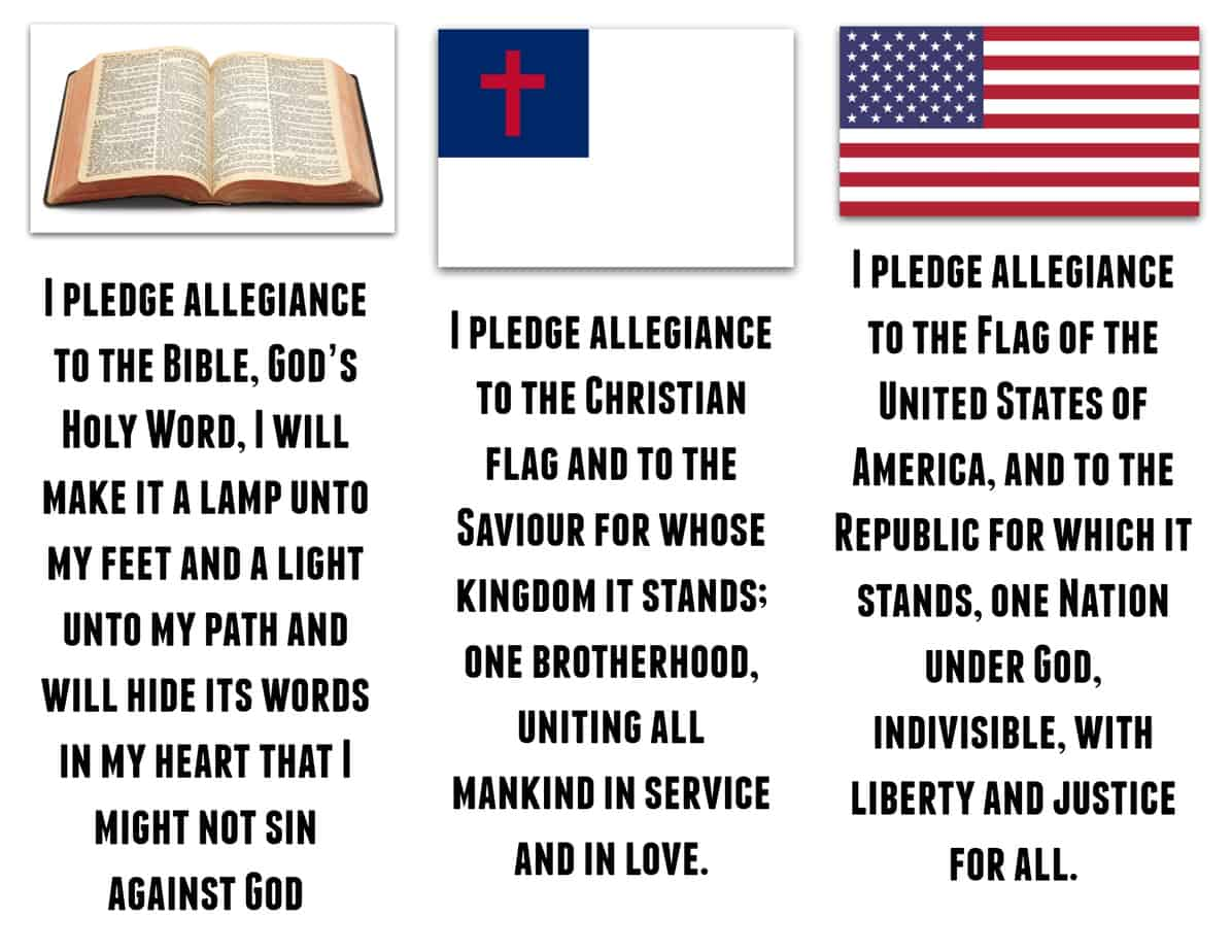 Vbs Pledges Easy Printable Bible American Amp Christian