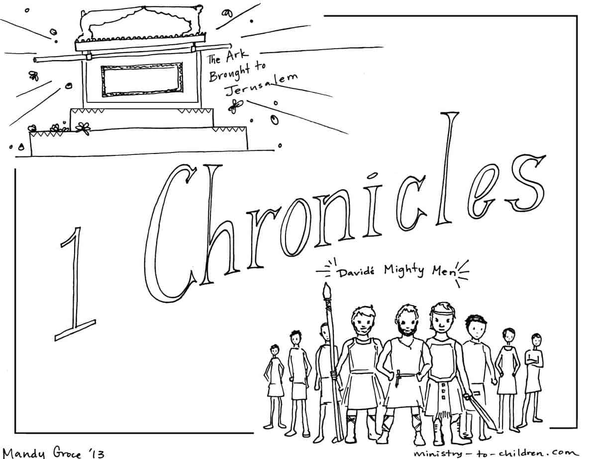 """""""1 Chronicles"""" Bible Coloring Page — Ministry-To-Children.com"""