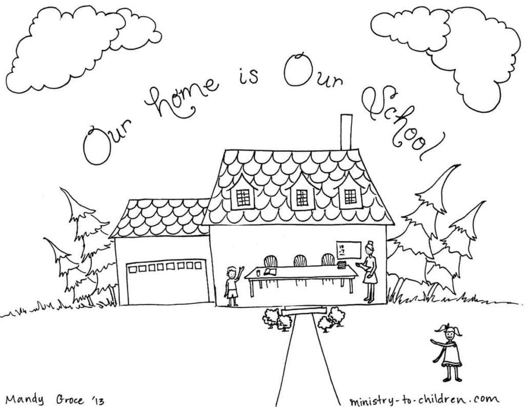 Homeschool Coloring Page