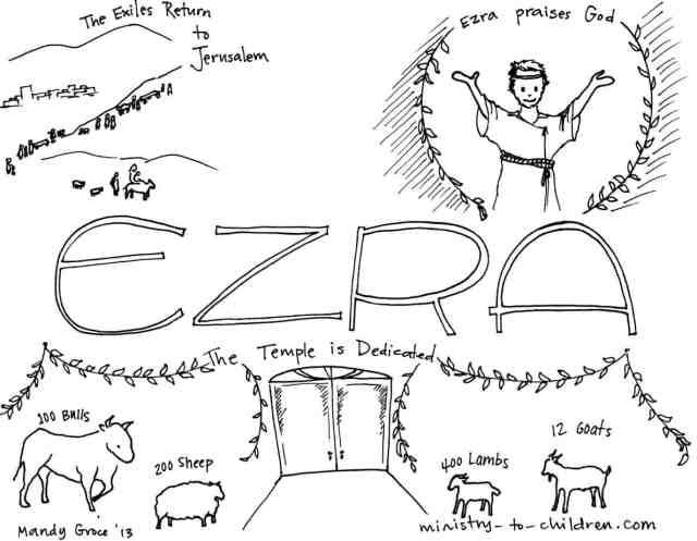"""Book of Ezra"""" Bible Coloring Page"""