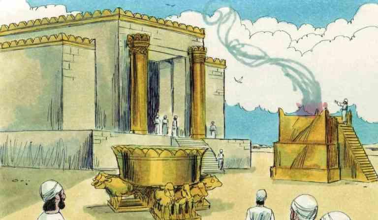 Bible Lesson: Solomon Builds Temple and Prays (1 Kings 8:1-13)
