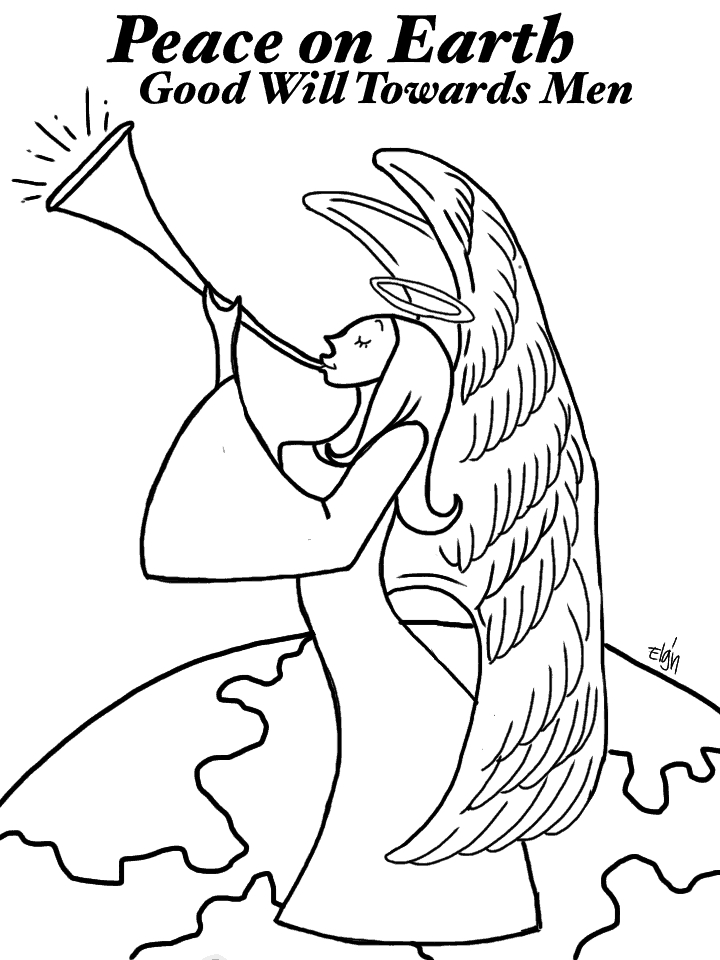 Hark The Herald Angels Sing Coloring Page | Whats In The Bible ... | 960x720