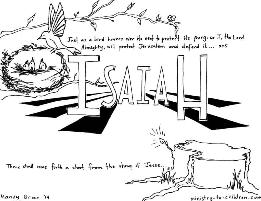 Book Of Isaiah Bible Coloring Page Free Printable