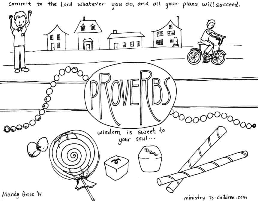 """Proverbs"" Bible Coloring Page — Ministry-To-Children.com"